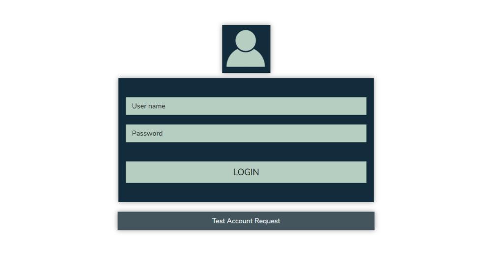 Login mit der Benutzername und Passwort