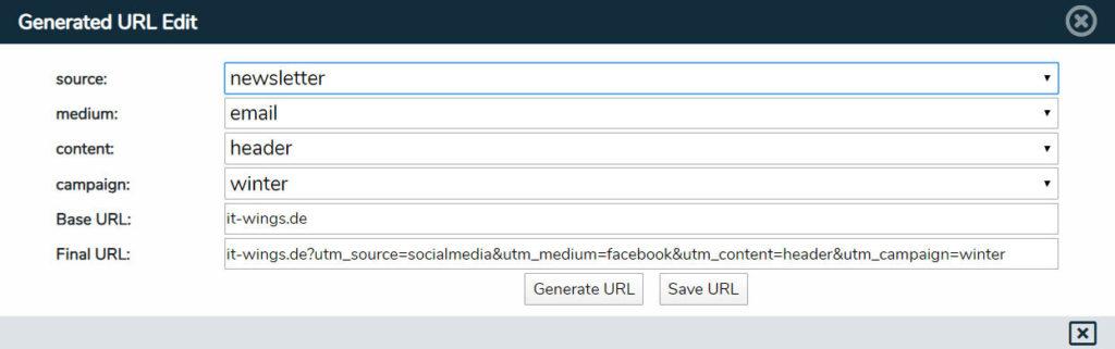 URL-Generator Screenshot