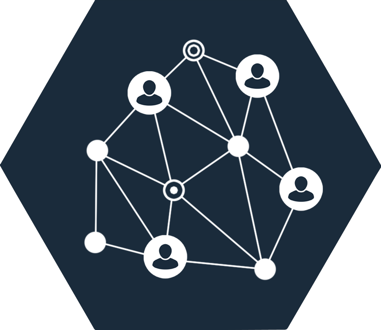URL-Generator Icon mit Pfeilen und Personen