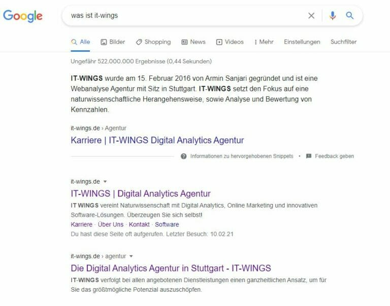 IT-WINGS Featured Snippet